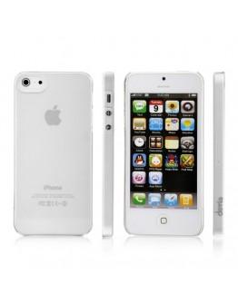 Carcasa protectie spate din plastic mat 0.7mm pentru iPhone 5 / 5S / SE, transparenta