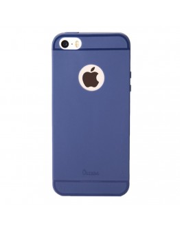 Carcasa protectie spate din silicon pentru iPhone SE / 5S / 5 - albastru