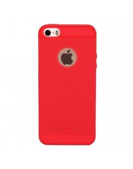 Carcasa protectie spate din silicon pentru iPhone SE / 5S / 5 - rosu
