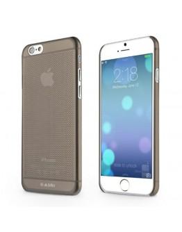 "Carcasa protectie spate tip mesh din gel TPU pentru iPhone 6 Plus / 6S Plus 5.5"", gri"