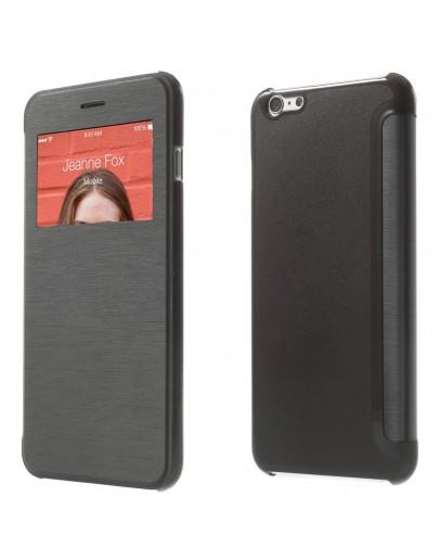 "Husa protectie Windows View pentru  iPhone 6 Plus / 6S Plus 5.5"", neagra"