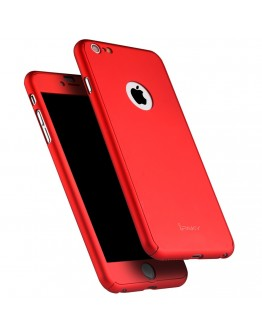 Husa protectie completa IPAKY pentru iPhone 6 Plus / 6S Plus 5.5 inch, rosie