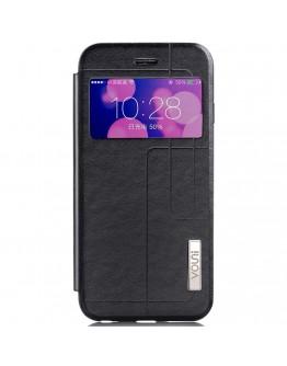 Husa protectie cu fereastra VOUNI pentru iPhone 6 Plus / 6S Plus 5.5 inch, neagra