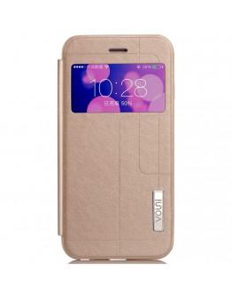Husa protectie cu fereastra VOUNI pentru iPhone 6 Plus / 6S Plus 5.5 inch, gold