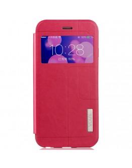 Husa protectie cu fereastra VOUNI pentru iPhone 6 Plus / 6S Plus 5.5 inch, rosie