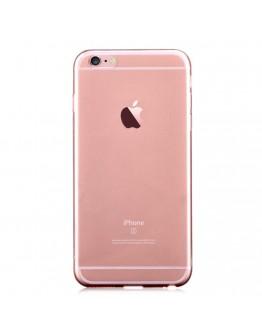 Carcasa protectie spate subtire DEVIA din gel TPU pentru iPhone 6 Plus / 6S Plus 5.5 inch, rose gold