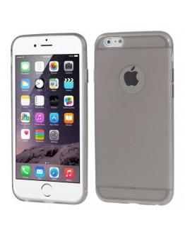 """Carcasa protectie spate din gel TPU cu decupaj pentru iPhone 6 Plus / 6s Plus 5.5"""", gri"""