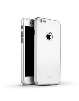 Husa protectie completa IPAKY pentru iPhone 6 / 6s, silver