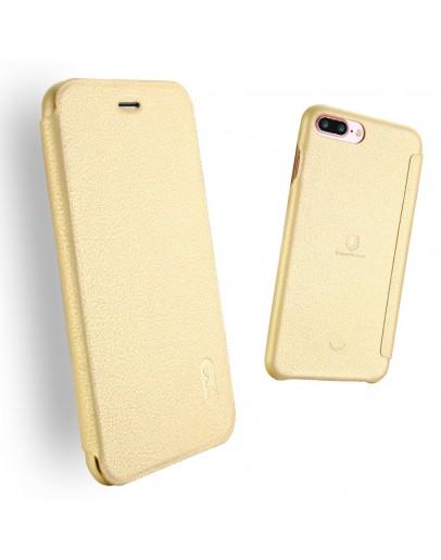 Husa protectie Flip Cover LENUO pentru iPHone 7 Plus 5.5 inch, gold