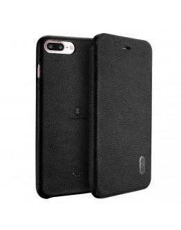 Husa protectie Flip Cover LENUO pentru iPHone 7 Plus 5.5 inch, neagra