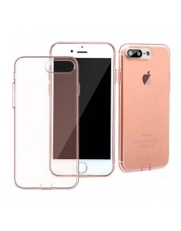 Carcasa protectie spate cu dopuri anti-praf pentru iPhone 7 Plus, rose gold