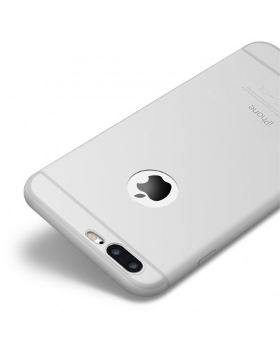 Carcasa protectie spate CAFELE din silicon pentru iPhone 7 Plus, transparenta