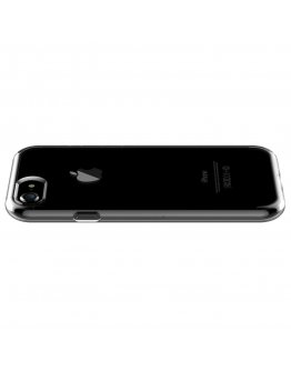 Carcasa protectie spate DEVIA din gel TPU pentru iPhone 7, transparenta