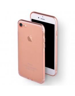 Carcasa protectie spate DEVIA din gel TPU pentru iPhone 7, rose gold
