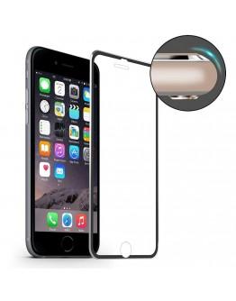 Sticla securizata HAT PRINCE cu rama de aluminiu pentru iPhone 7 4.7 inch, neagra