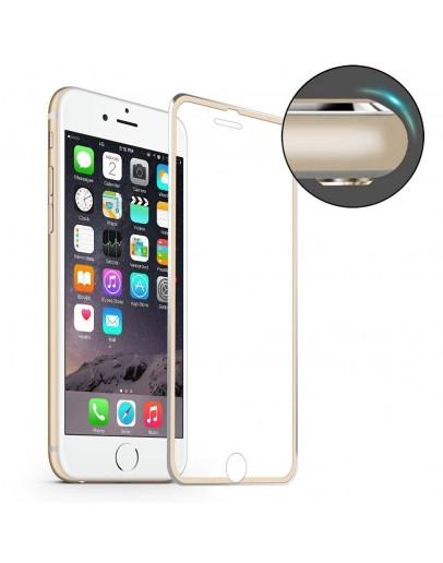 Sticla securizata HAT PRINCE cu rama de aluminiu pentru iPhone 7 4.7 inch, gold