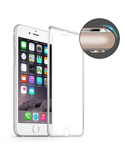 Sticla securizata HAT PRINCE cu rama de aluminiu pentru iPhone 7 4.7 inch, silver