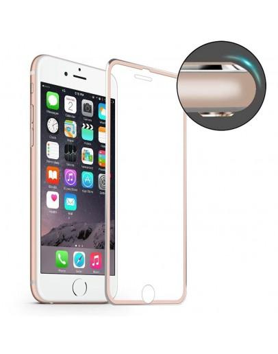 Sticla securizata HAT PRINCE cu rama de aluminiu pentru iPhone 7 4.7 inch, rose gold