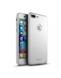 Husa protectie completa IPAKY pentru iPhone 7 4.7 inch, silver