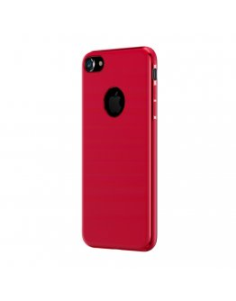Carcasa protectie spate BASEUS din gel TPU pentru suport magnetic pentru iPhone 7, rosie