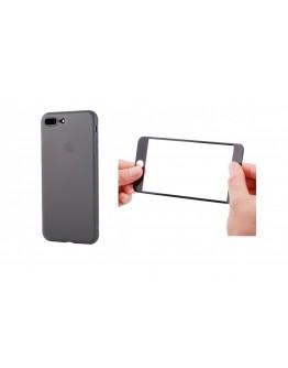 Pachet carcasa protectie spate si sticla securizata protectie ecran pentru  iPhone 8 Plus / 7 Plus