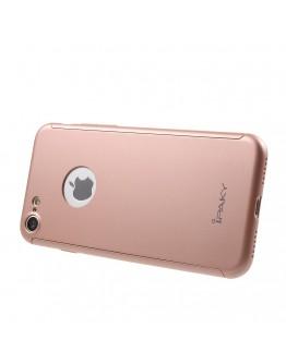 Husa protectie completa IPAKY pentru iPhone 7 4.7 inch, rose gold