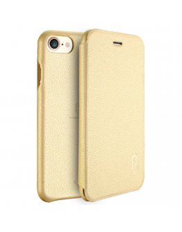 Husa protectie Flip Cover LENUO pentru iPhone 7 4.7 inch, gold
