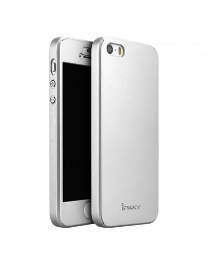 Husa protectie completa IPAKY pentru iPhone SE 5s 5, Silver