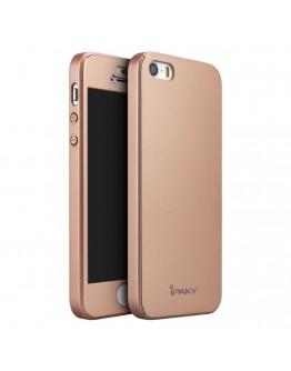 Husa protectie completa IPAKY pentru iPhone SE 5s 5, Rose Gold