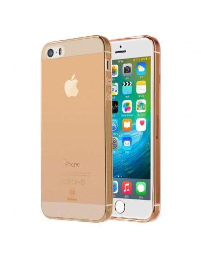 Carcasa protectie spate BASEUS din gel TPU pentru iPhone SE 5s 5, Rose gold