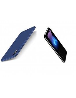 Pachet carcasa din piele ecologica si sticle securizate protectie fata spate  pentru iPhone X/Xs 5.8 inch