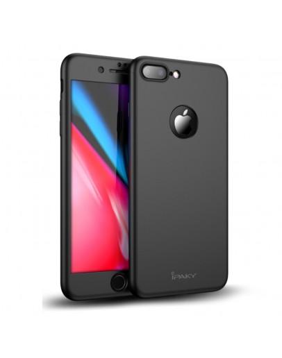 Husa protectie completa IPAKY pentru   iPhone 8 Plus, neagra