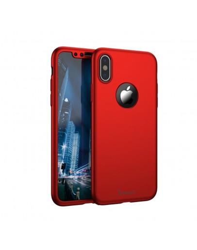 Husa protectie completa IPAKY pentru  iPhone X/10, rosie