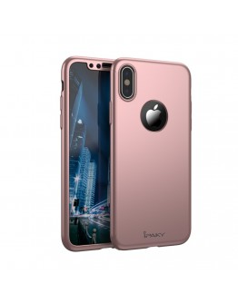 Husa protectie completa IPAKY pentru  iPhone X/10, rose gold