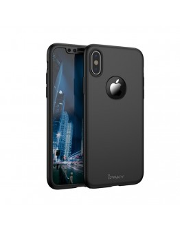 Husa protectie completa IPAKY pentru  iPhone X/10, neagra