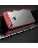 Carcasa protectie spate din gel TPU si acrilic pentru iPhone 8/iPhone 7, rosie
