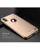 Carcasa protectie spate din plastic pentru iPhone X/Xs 5.8 inch, gold