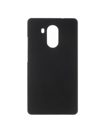 Carcasa protectie spate din plastic cauciucat pentru Huawei Mate 8 - neagra