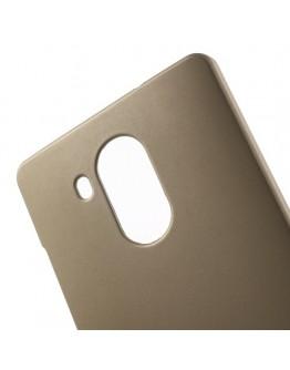 Carcasa protectie spate din plastic cauciucat pentru Huawei Mate 8 - gold