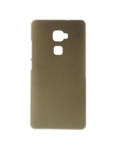 Carcasa protectie spate din plastic cauciucat pentru Huawei Mate S - gold