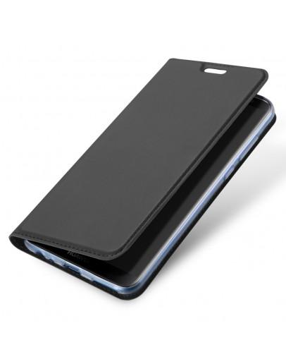 Husa de protectie din plastic si piele ecologica DUX DUCIS pentru Huawei Mate 10 Lite, gri inchis