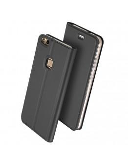 Husa de protectie din plastic si piele ecologica DUX DUCIS pentru Huawei P10 Lite, gri inchis
