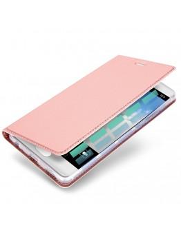 Husa de protectie din plastic si piele ecologica DUX DUCIS pentru Huawei P10, rose gold