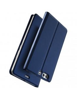 Husa de protectie din plastic si piele ecologica DUX DUCIS pentru Huawei P10, albastru inchis