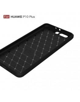 Carcasa protectie spate din gel TPU pentru Huawei P10 Plus, neagra