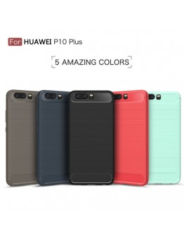 Carcasa protectie spate din gel TPU pentru Huawei P10 Plus, gri