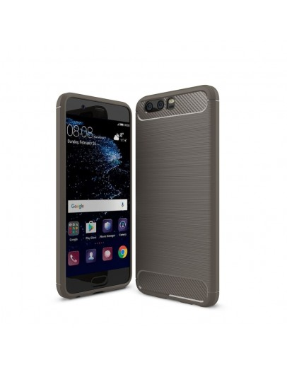 Carcasa protectie spate din gel TPU pentru Huawei P10, gri