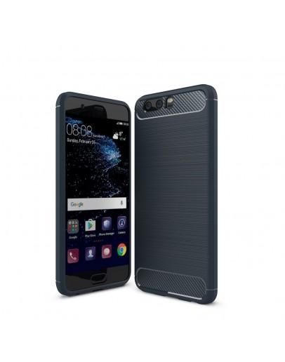 Carcasa protectie spate din gel TPU pentru Huawei P10 Plus, albastru inchis