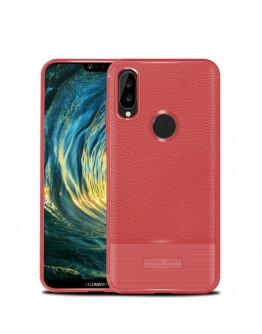 Carcasa protectie spate din gel TPU pentru Huawei P20 Lite, rosie