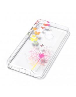 Carcasa protectie spate ,,Papadie si fluturi'' din gel TPU pentru Huawei P20 Lite
